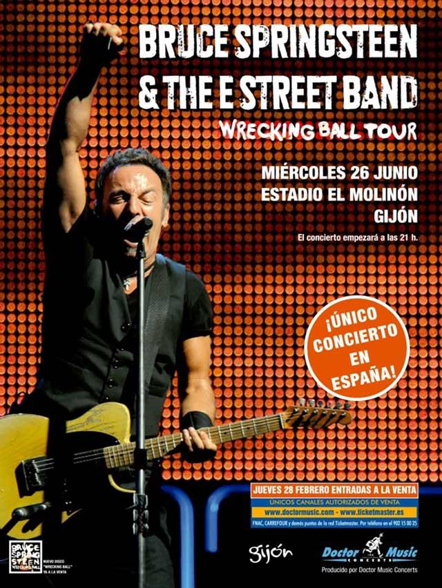 Poster Bruce Springsteen Gijon 2013